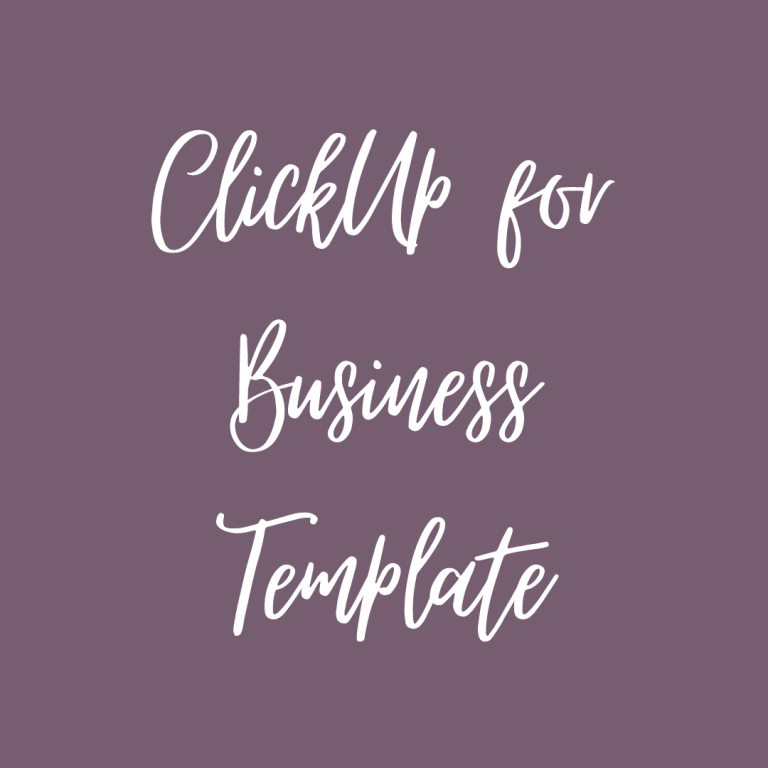 ClickUp Business Template